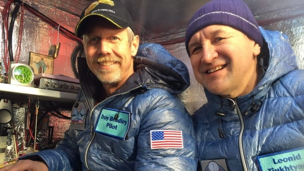 Troy Bradley of Albuquerque, N.M., and Leonid Tiukhtyaev of Russia have travelled farther and longer in a gas balloon than anyone in history.