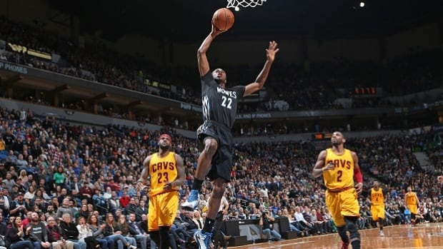 Minnesota Timberwolves forward Andrew Wiggins scored a career-high 33 points against LeBron James and the Cleveland Cavaliers on Saturday.