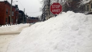 Saint John snowbank in south-central peninsula