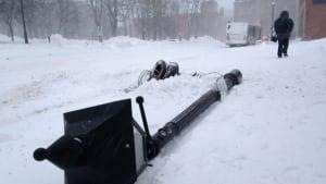 Saint John Transit bus skidded into a lamppost
