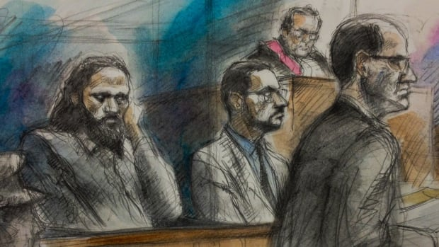 Chiheb Esseghaier, left, and Raed Jaser, centre, are accused of plotting multiple attacks.