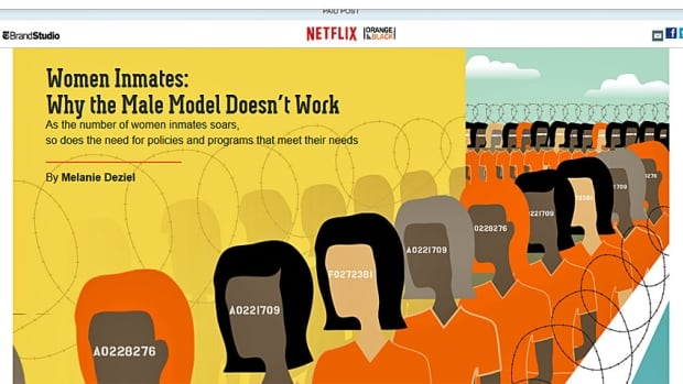 The lead on the New York Times/Netflix 1,500-word collaboration designed to promote the TV series Orange is the New Black. The author, Melanie Deziel, was until last month the head of the Time's in-house branded content team, T Brand Studio.