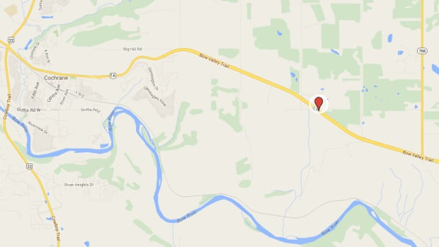 RCMP say this is the area where they set up a radar location on Sunday afternoon.