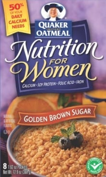 Quaker Oatmeal for women