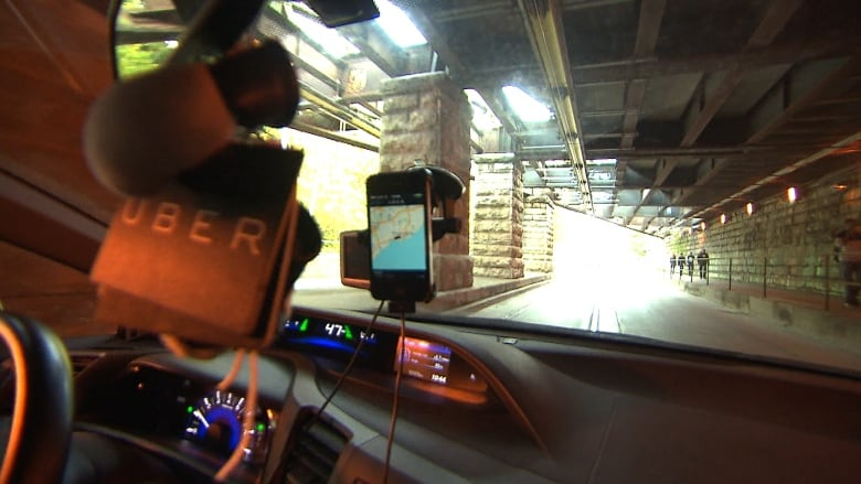 Two montreal uberx drivers fined and have cars impounded cbc news