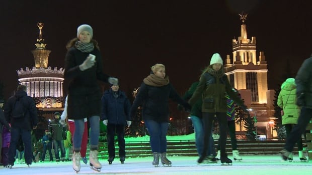 Moscow has revived a Stalinist exhibition centre for a new artificial skating rink, exhuming a Soviet-style message of nationalism and pride.