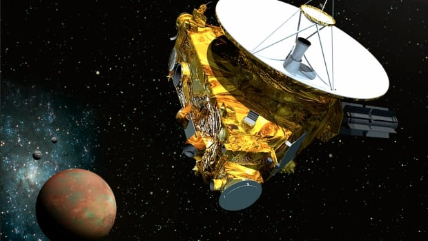 The New Horizons spacecraft, seen here in an artist's concept, is scheduled to pass by Pluto in July.