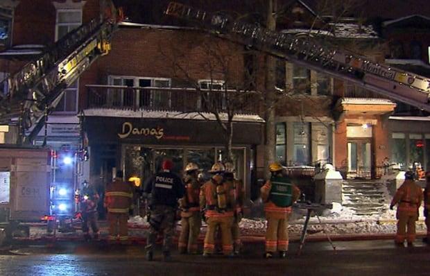 Damas restaurant fire Feb 6 2015