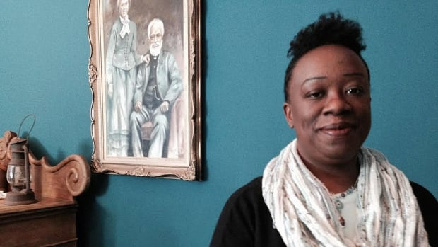 Natasha Henry, an educator, historian, and curriculum consultant specializing in black history, taught a specialized course in Dresden, Ont., Friday.