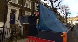 London basement construction site