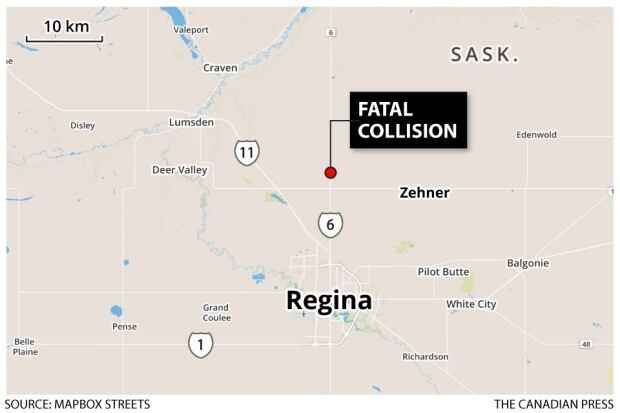 Crash location near Regina