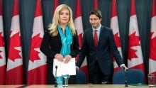 Eve Adams and Justin Trudeau