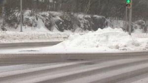 Dunbrack Street snowbank