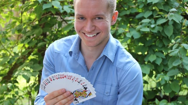 Jay Olson is using card tricks to study the effect of importance of context in decision-making.