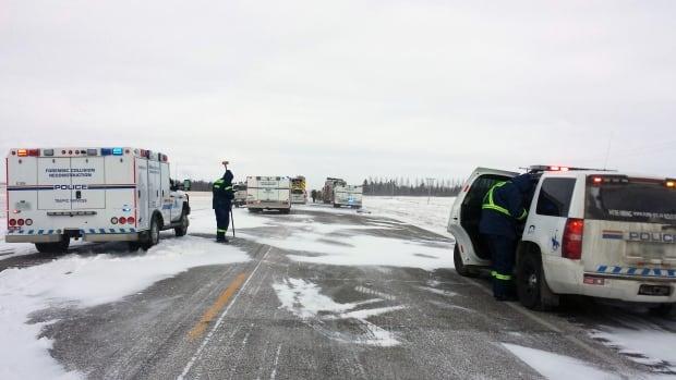 rcmp at scene of crash