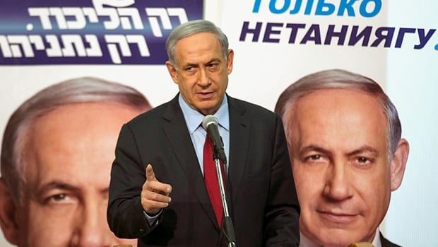 """Israeli Prime Minister Benjamin Netanyahu launches his Likud campaign at Bar Ilan University near Tel Aviv. On Sunday, he defended his upcoming speech to Congress, saying """"I went to Paris not just as the prime minister of Israel but as a representative of the entire Jewish people,"""" and that he would go anywhere he's invited to convey the position of the Israeli people."""