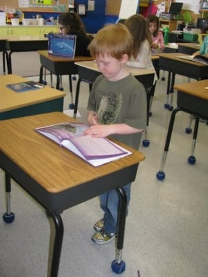 Delisle Elementary School stand-up desk