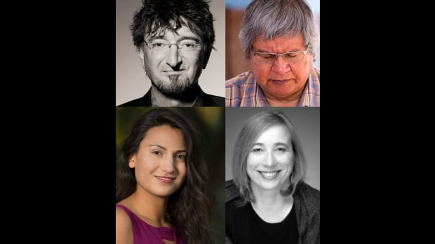 Four people from the Calgary and Regina arts communities died in Tuesday's crash. Clockwise from upper left are Michael Green, Narcisse Blood, Michele Sereda and Lacy Morin-Desjarlais. The fifth crash victim has been identified by RCMP as Morley Hartenberger, 59, from Cupar, Sask.