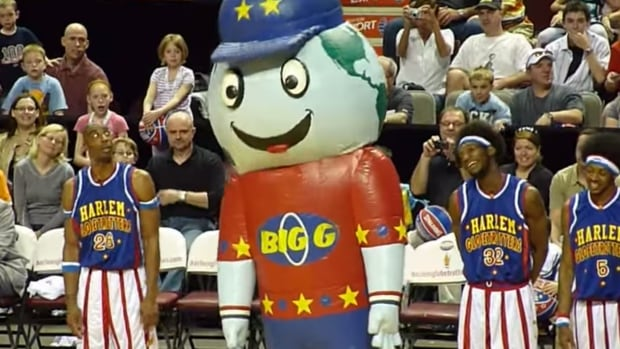 Big G was stolen from the Harlem Globetrotters' team bus sometime after 4 p.m. PT Monday, according to Vancouver police.