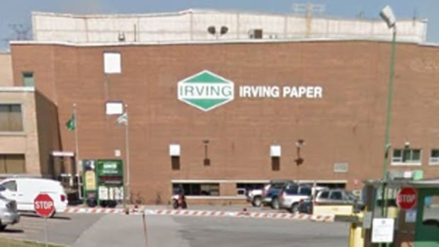 Irving Paper mill on Bayside Drive in Saint John