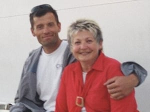 Sgt. Mark Salesse and his mother Liz Quinn