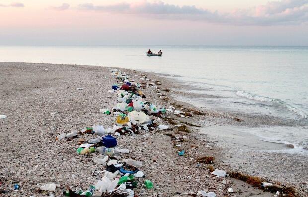 Garbage Haiti beach