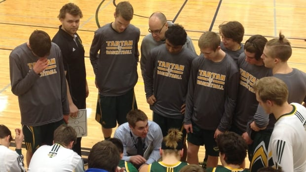The Campbell Tartans senior boys' basketball team at the 63rd annual Luther Invitational Tournament in Regina in 2015. Teachers say students and parents may have to find other people to coach sports teams if the province turfs local teaching contracts.