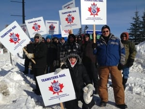 Teamsters on strike