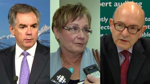 Premier Jim Prentice, MLA Genia Leskiw and Auditor General Merwan Saher are three of the players in the Legislative Offices Committee saga.