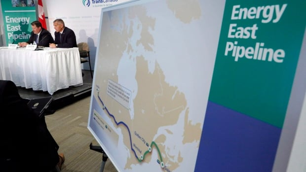 The Energy East pipeline would move oil to Eastern Canada refineries and an export marine terminal in New Brunswick.