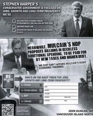 Conservative flyer