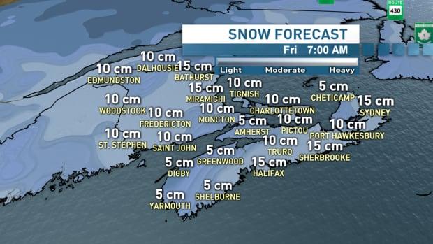 Snow forecast for Thursday/Friday