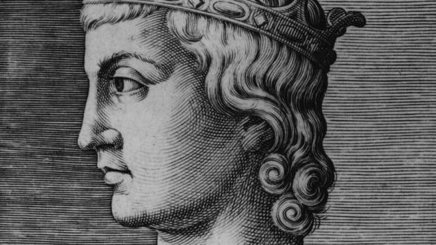 Circa 1225, Holy Roman Emperor Frederick II (1194 - 1250) of Germany.