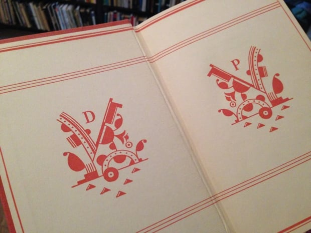 The endpaper for the 1936 edition of Not So Deep as a Well