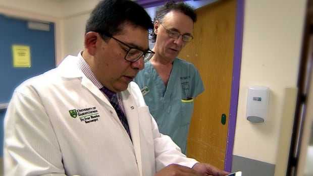 Dr. Ivar Mendez can use his iPhone to control medical robots in different cities and communities.