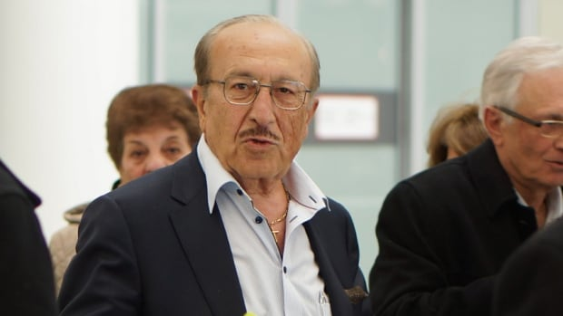 Cy Tokmakijian arrives at Pearson International Airport in Toronto on Saturday after being released from prison in Cuba.