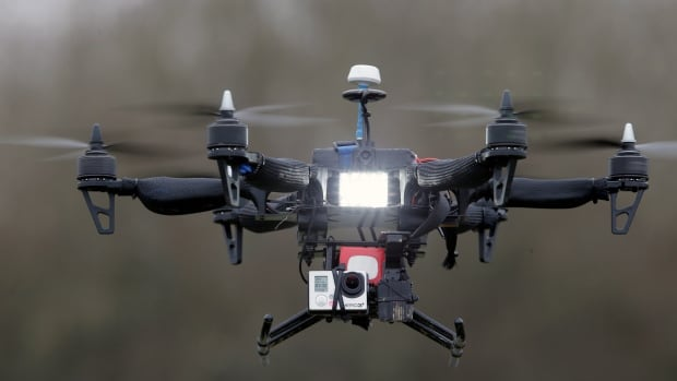 An example of a unmanned aerial vehicle, or drone.