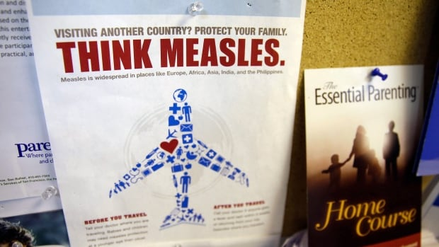 Travel-related measles cases will continue to occur in Canada, health authorities say.