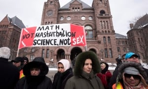 Ontario Sex Education Protest 20150224