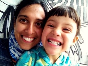 "Mitali Ruths' daughter Sonya shows off her ""robot teeth"""