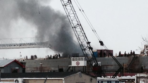A fire started on the Mississagi ship Thursday afternoon.