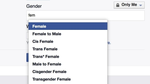 Facebook users who don't fit any of the 58 gender identity options offered by Facebook are now being given a rather big 59th option: fill in the blank.