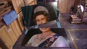 Queen portrait in Whitby