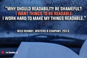 Nick Hornby quote
