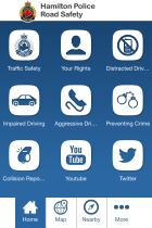 Hamilton Police road safety app