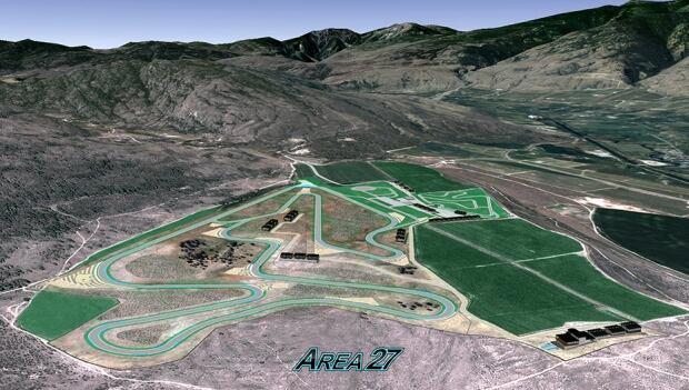 Area 27 motosports track designed by Jacques Villeneuve
