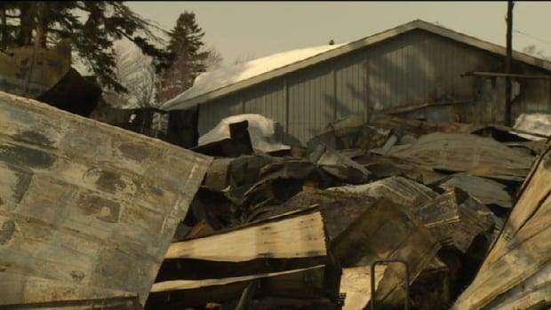 Vehicle warehouse fire