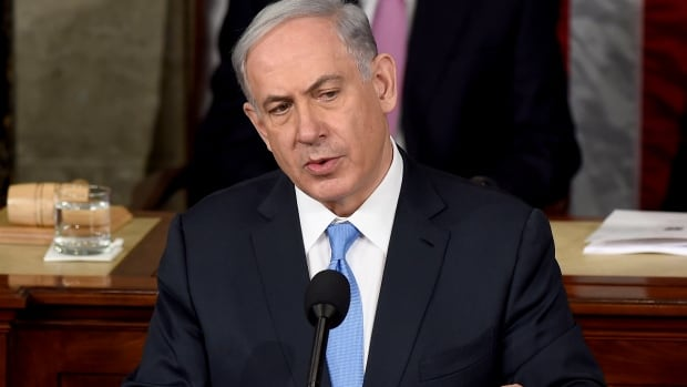 Israelis watched Prime Minister Benjamin Netanyahu speak before a joint meeting of Congress on Capitol Hill in Washington as they sat down for dinner on Tuesday.