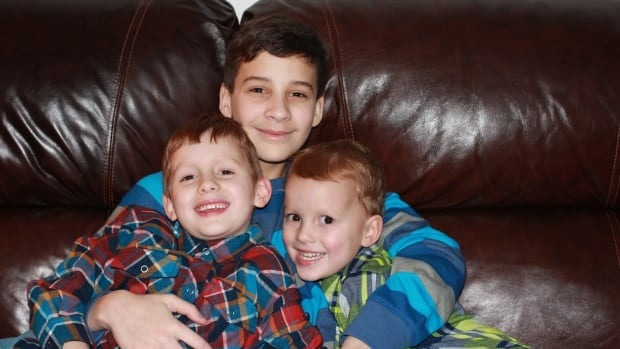 A photo of the Niedermayers' three boys, Ethan, 13, Memphis, 6, and Braxton, 4, was among the precious family photos held for ransom by cybercriminals.