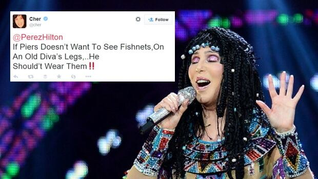 Cher Piers Morgan Twitter fight